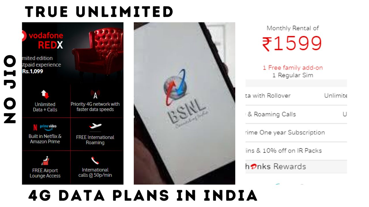 4g True Unlimited plans in India in 2020 Airtel BSNL & Vodafone , Jio don't offer Unlimited